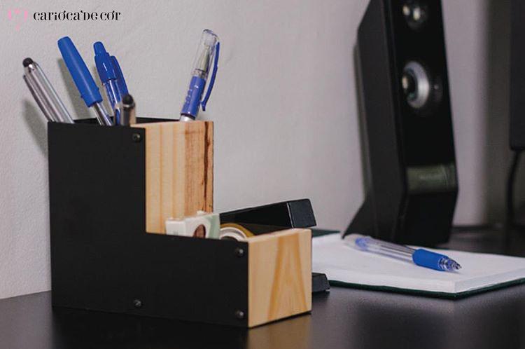 porta caneta e objetos pequenos