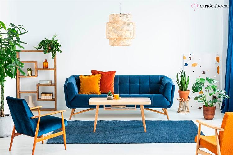 sala com cores complementares