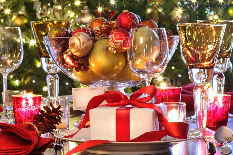 decoração de bolas de natal para o ano novo