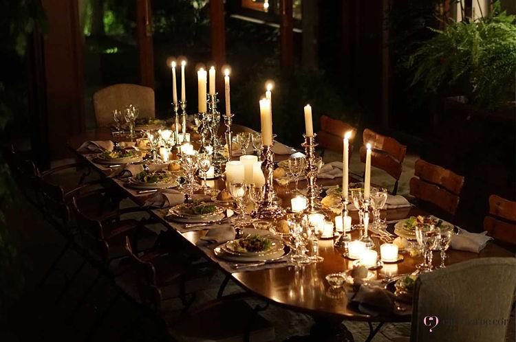 castiçais e velas para decoração réveillon