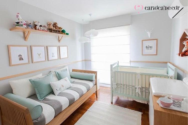 cortinas e tapetes para quarto de bebê