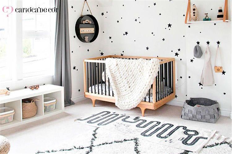 quarto de bebê minimalista