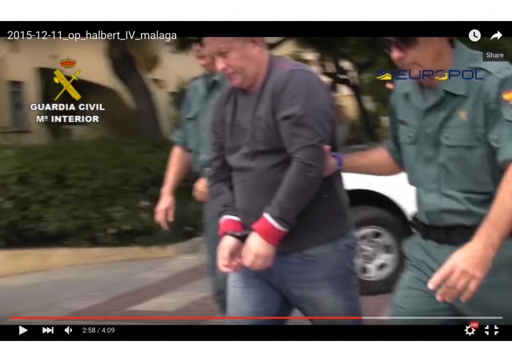 The moment Guardia Civil officers led Robert Dawes away for extradition to France