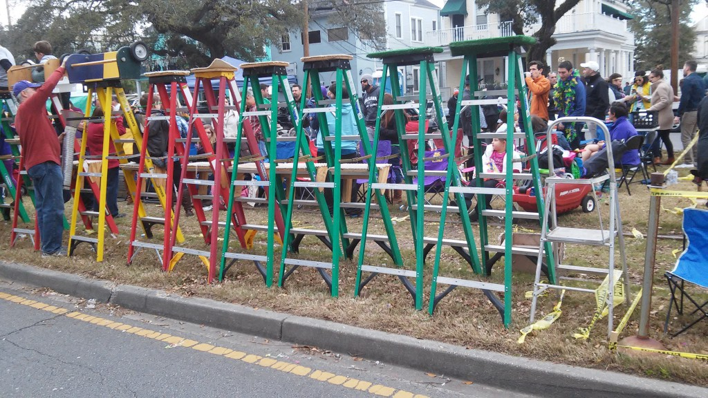 Ladders under six feet from curb