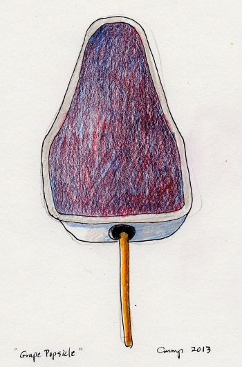 """Grape Popsicle,"" Carol Crump Bryner, 2013"