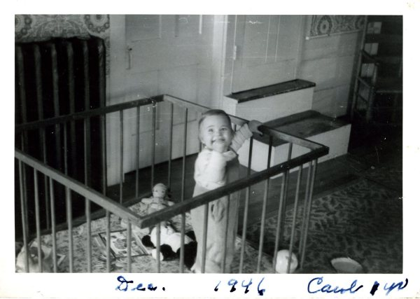 Me in my playpen near the doors to back staircase and back bedroom