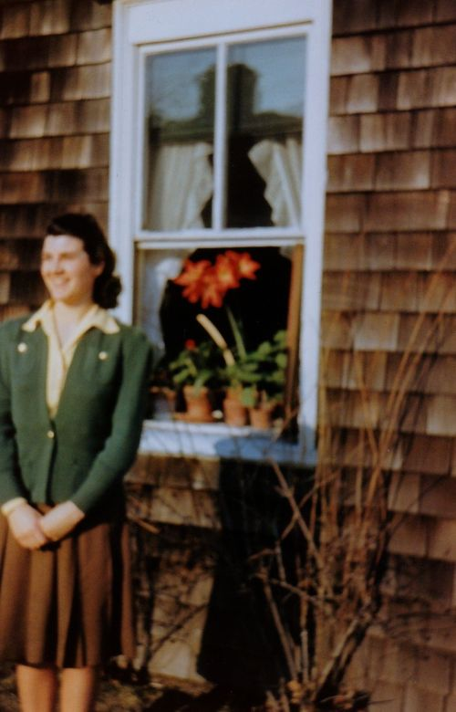 Janet and the parlor window, 1942