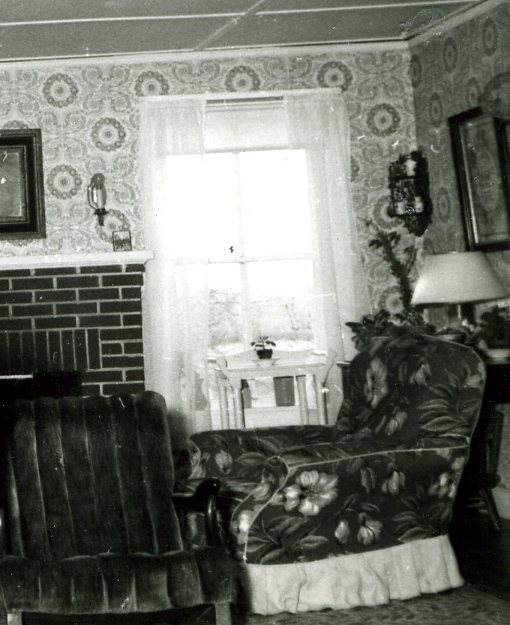 Fireplace and window, 1951