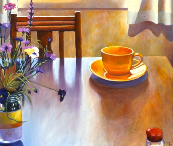 """Morning Light,"" Carol Crump Bryner, oil on canvas, 1998"