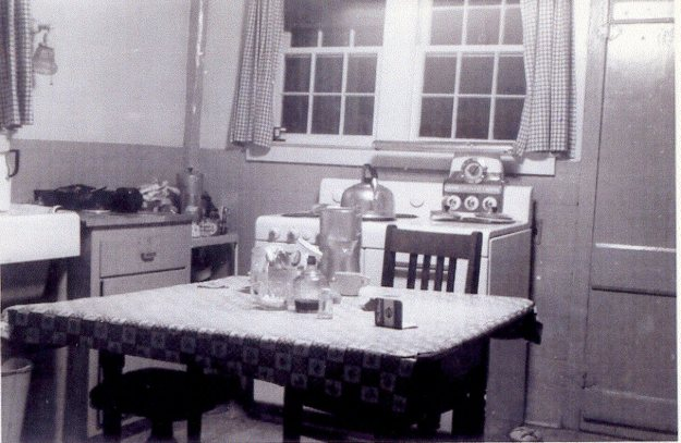 Farmhouse kitchen around 1950