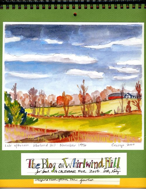 """The Blog on Whirlwind Hill Calendar,"" Katy Gilmore, 2013"