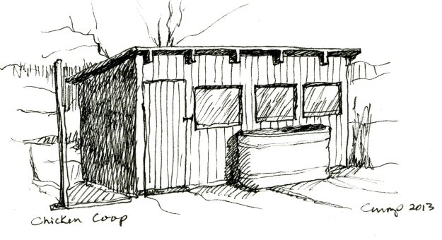 """Chicken Coop,"" Carol Crump Bryner, pen, 2013"