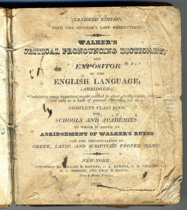 """""""Walker's Critical Pronouncing Dictionary"""""""