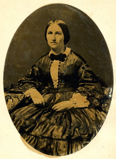 An unidentified relative in a Civil War era dress.