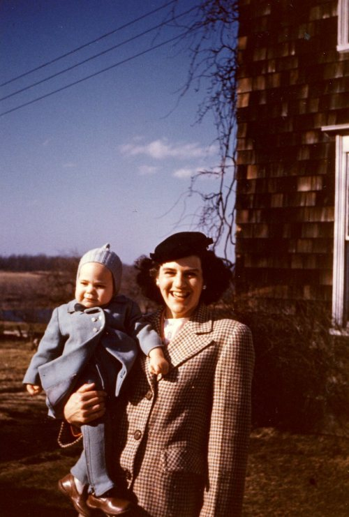 Carol and Janet Crump on Whirlwind Hill, 1947