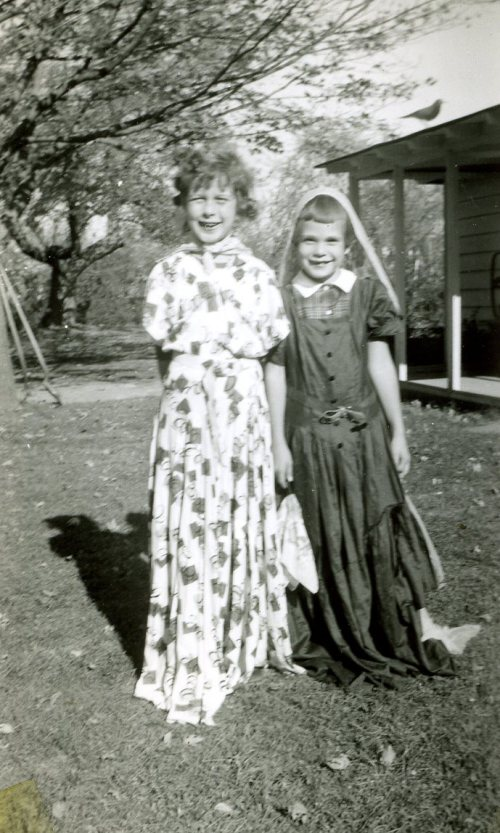 Sue Collins and Carol Crump around 1952