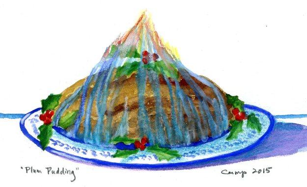 """Plum Pudding,"" Carol Crump Bryner, gouache, 2015"