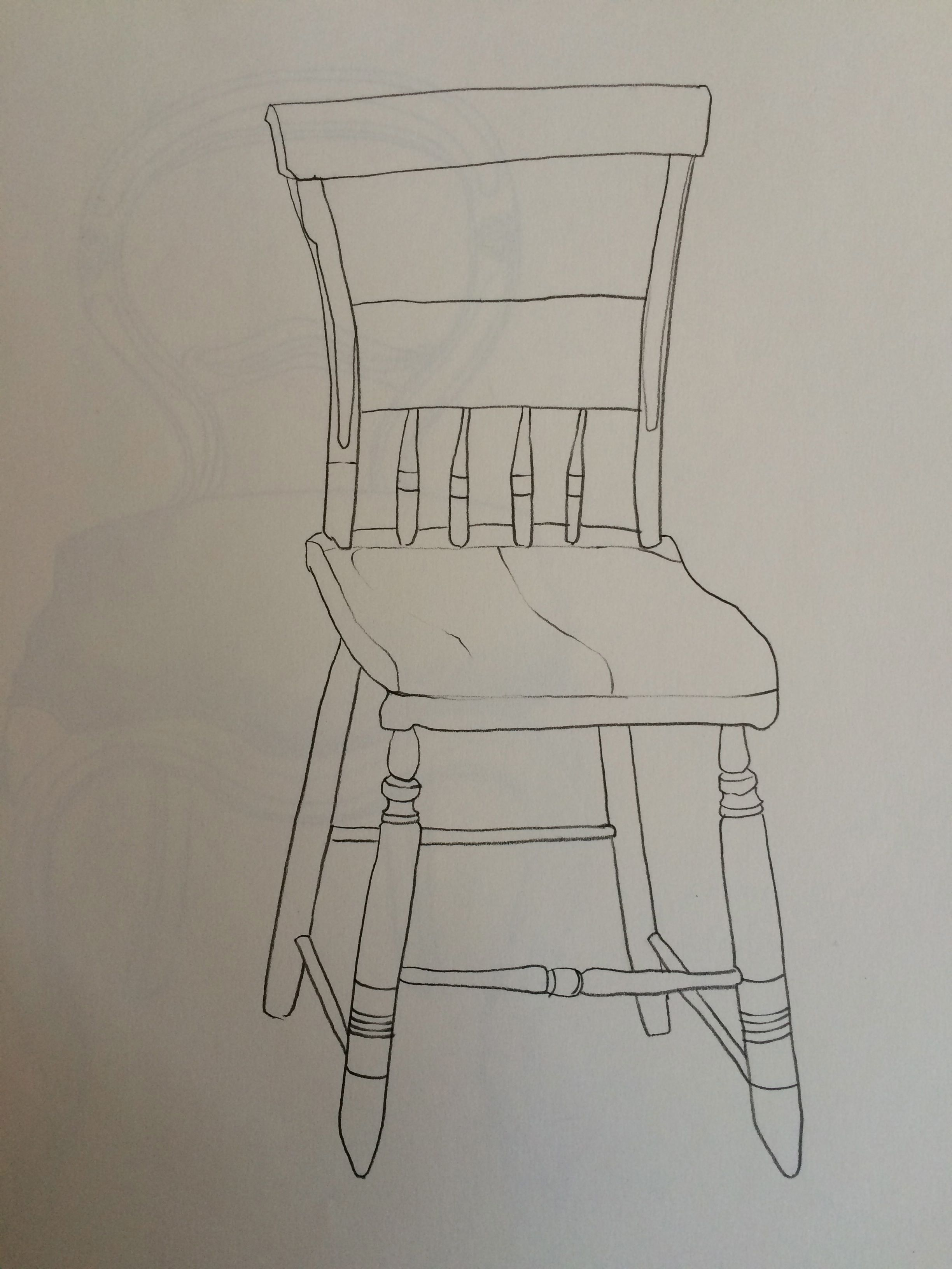 How to draw a chair in pencil step by step