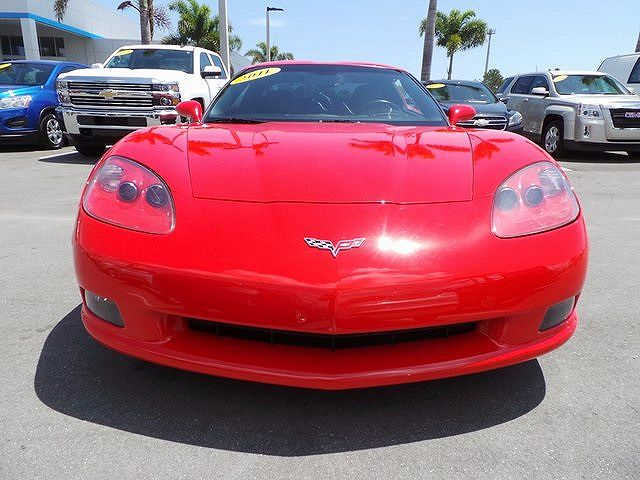 Chevrolet Corvette from the front