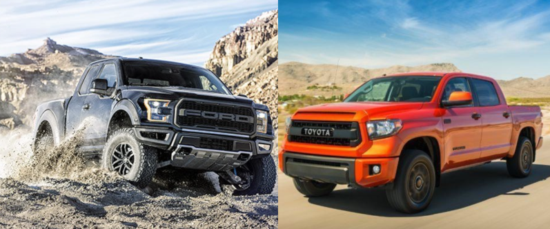 Ford F-150 Raptor and Toyota Tundra TRD Pro
