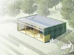 casa ecologica con illuminazione solare