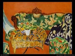 Un quadro di Henry matisse raffigurante un salotto