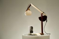 La Quercia 21 Lampada in legno denominata Avocetta perchè ricorda la forma di quel volatile