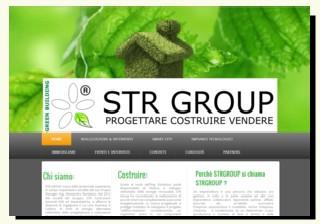 Home del sito della STR Group