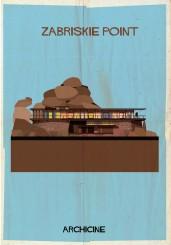 Il poster di Federico Babina per il film di Michelangelo Antonioni Zabriskie Point
