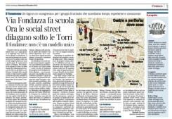 un articolo dedicato al gruppo di via Fondazza Social Street, Corriere Bologna, 9 dicembre 2013