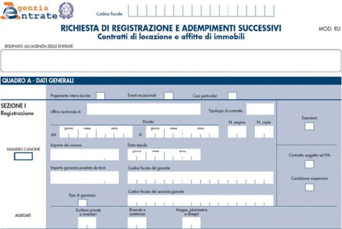 Come Registrare Il Contratto Di Locazione Il Modello Rli