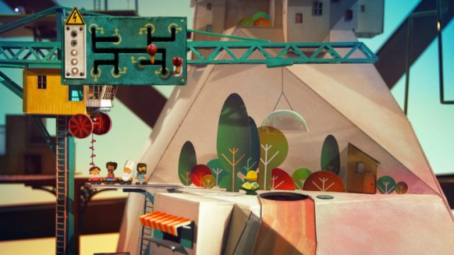 Alcuni personaggi nella piccola città colorata di Lumino City