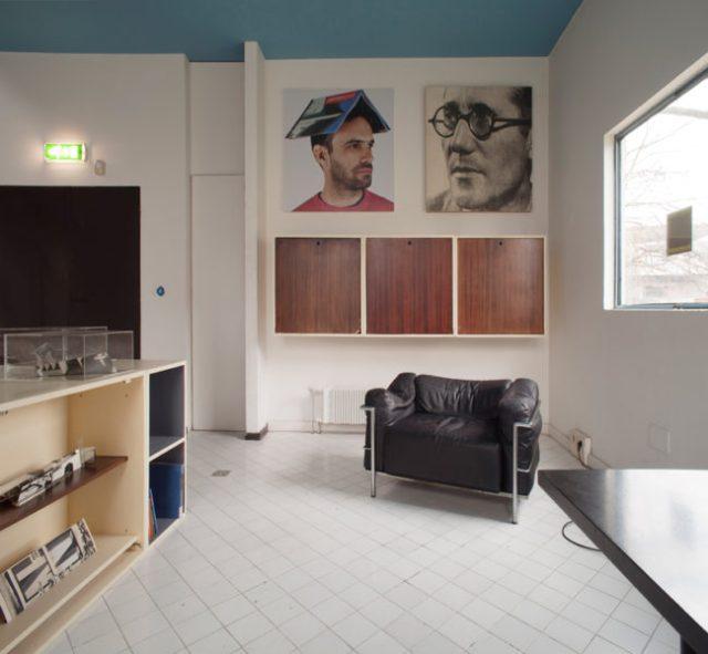 Cristian Chironi, My house is a Le Corbusier (Esprit Nouveau Pavillon), 2015, veduta della mostra, foto M. Monti, © C. Chironi e FLC, courtesy MAMbo - Museo d'Arte Moderna di Bologna