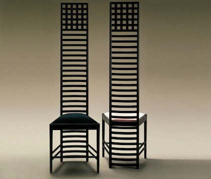 Ladder Back Chair Art Nouveau di Mackintosh