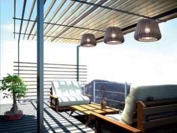 arredare casa in stile marino lampada da esterno in rattan Ralph di Panzeri