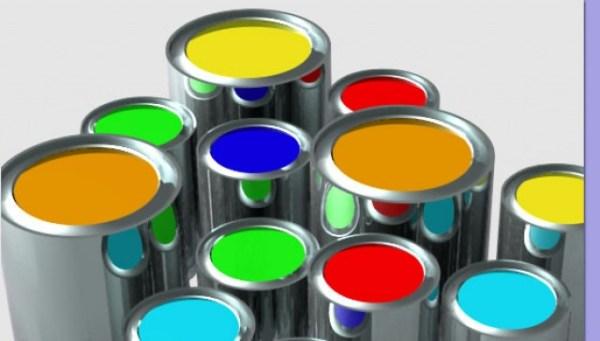vernice solare fotovoltaica barattoli di vari colori