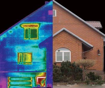 isolare termicamente la casa: termografia mostra la dispersione di calore