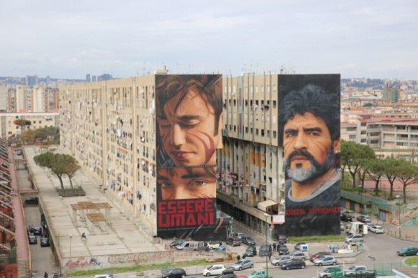 Murales Di Jorit A Napoli Maradona S Gennaro Troisi Altri