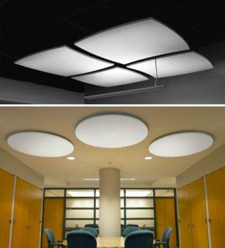 come abbinare acustica ed estetica in edilizia: isolamento acustico con pannelli Optima Canopy