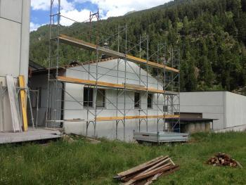 Sopraelevazione in legno in fase di realizzazione di Vario Haus - foto tratta da CosediCasa.com
