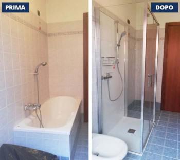 rinnovare bagno senza ristrutturare: Sostituire vasca con doccia CambioVasca