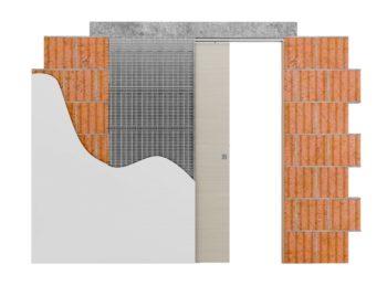 controtelaio per intonaco per per installazione di porta scorrevole a scomparsa