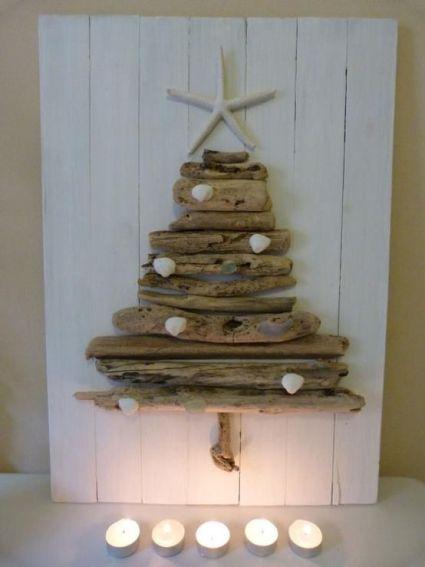 árbol navidad con madera reciclada