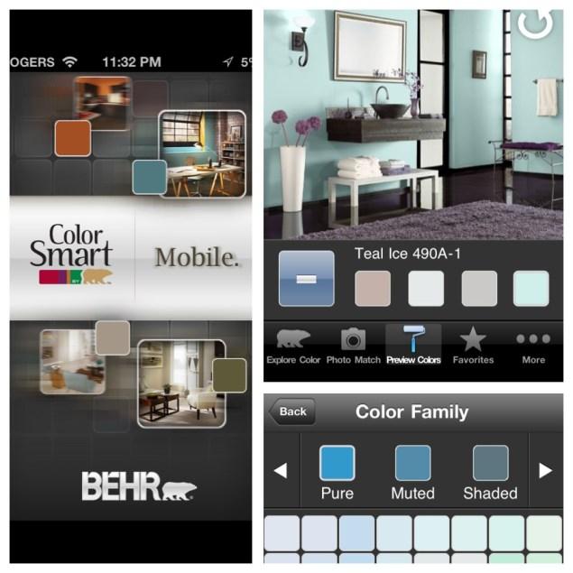 aplicación móvil decoración paredes de la casa