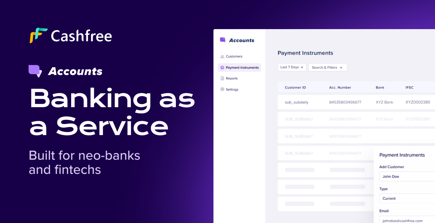 [What's New] Introducing Accounts – Banking as a Service…