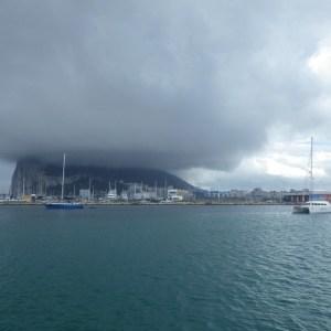 Rocher de Gibraltar vu du mouillage