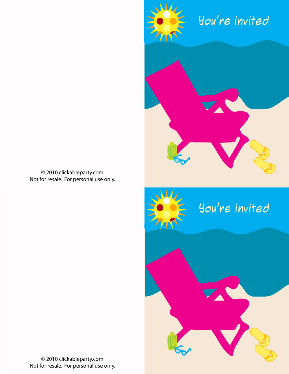 free printable summer party invitations | Onvacationsite.co
