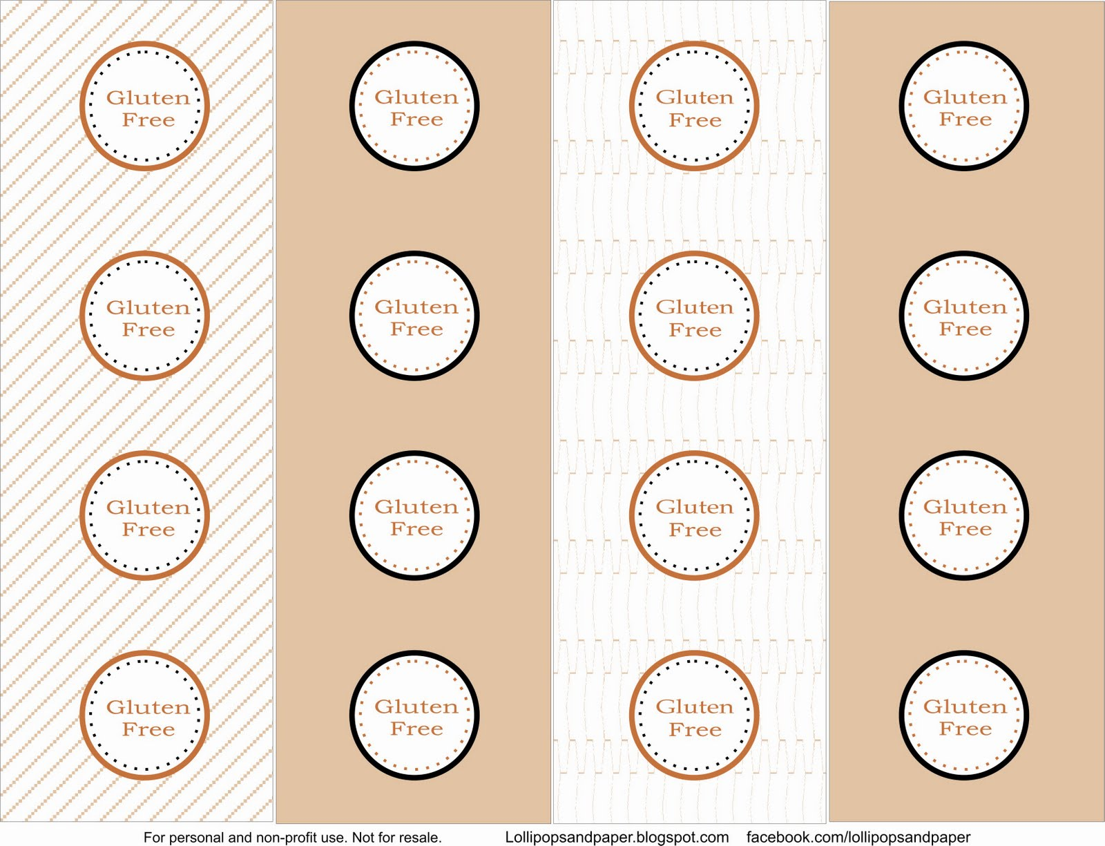 Free Printables Allergy Dessert Tags From Lollipops Amp Paper