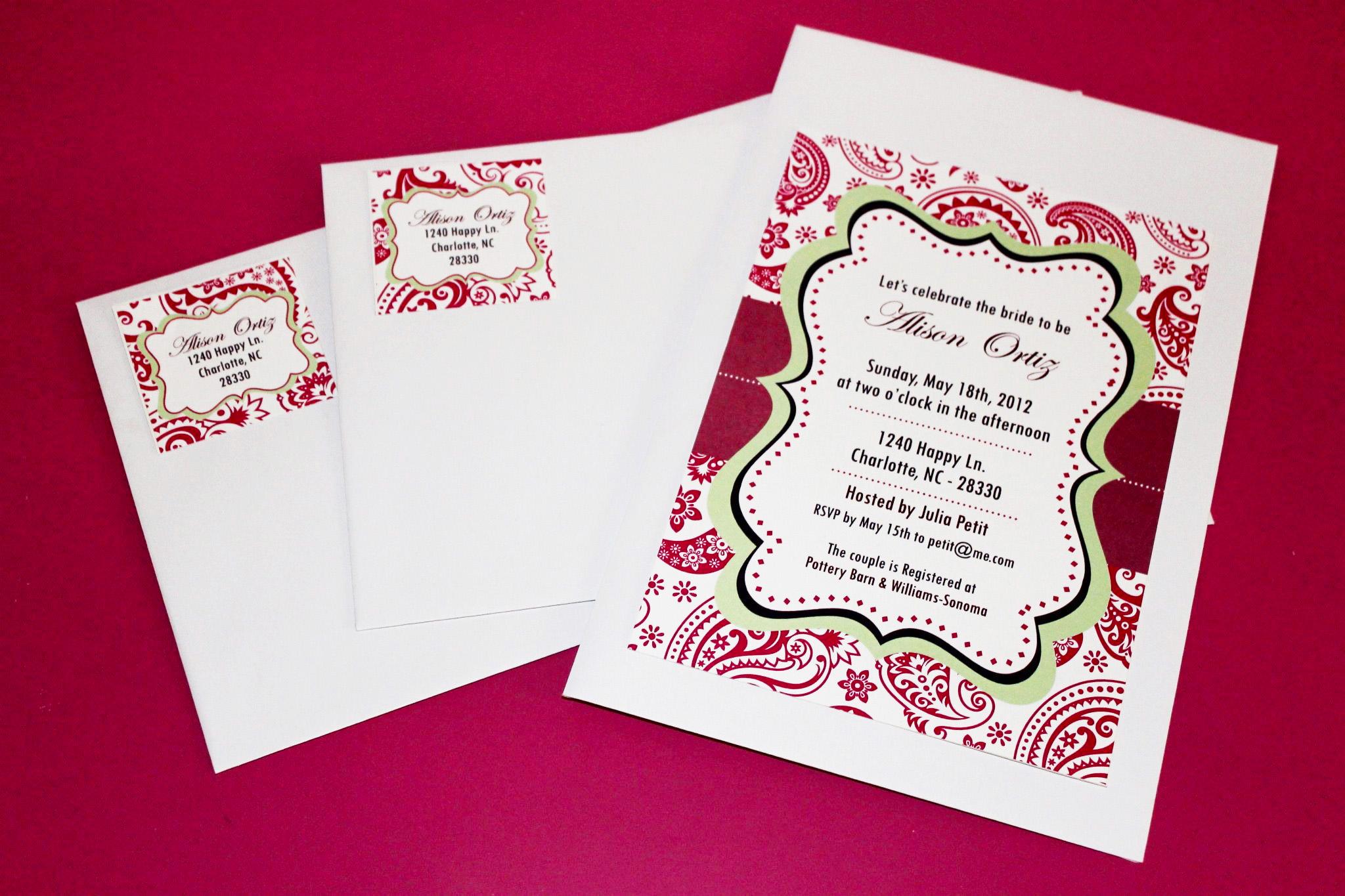 Printable Editable Invitations
