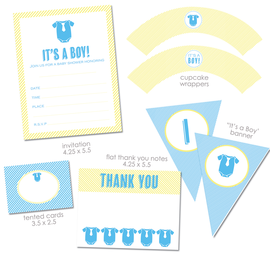 Free It S A Boy Baby Shower Printables From Green Apple Paperie
